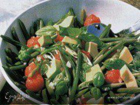 Фасолевый салат с руколой