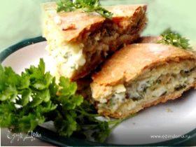 Пирог с плавленым сыром