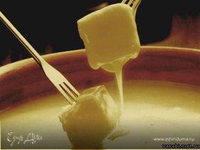 Плавленный сыр по-швейцарски