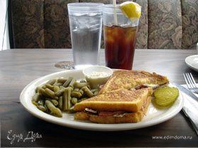 Жареный сэндвич с лососем