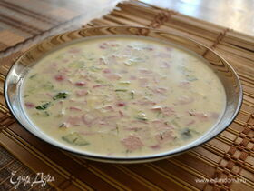 Рецепт классической окрошки с колбасой и майонезом