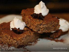 Пирог с грецкими орехами и кофейным сиропом