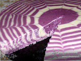 Творожно - черничный торт