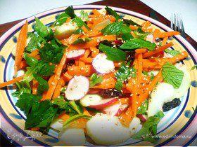 Хрустящий салат с тахини