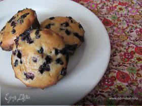Чернично-миндальные кексы