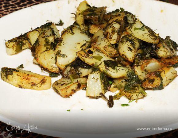 Картофель жареный «по-македонски»
