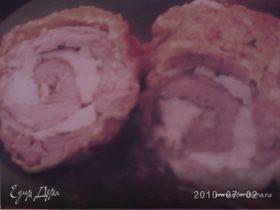 Свиная шейка с куриным филе