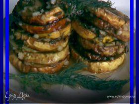 Жареные кабачки а маринаде