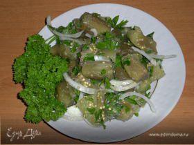 Закуска из маринованных баклажанов