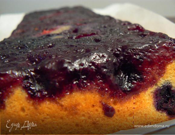 Черничный пирог-перевертыш