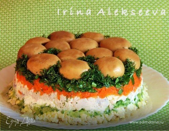 """""""Лесная поляна"""" салат"""