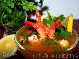 Суп с креветками