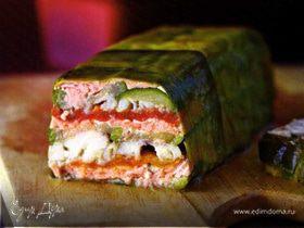 Празднично: террин из рыбы с овощами