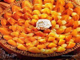 Пирог с маком и абрикосами