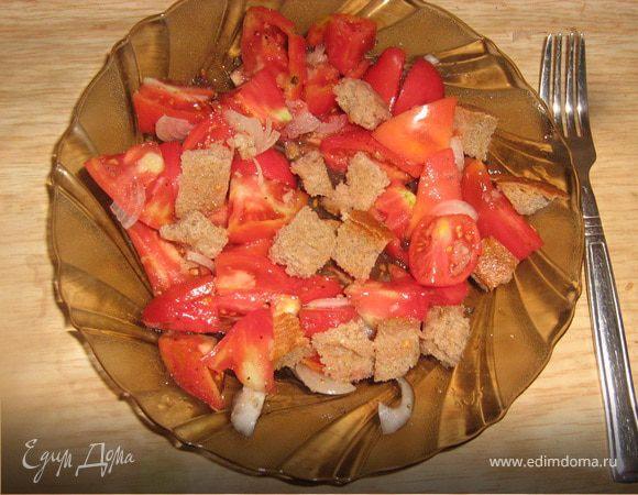 Простой помидорный салатик