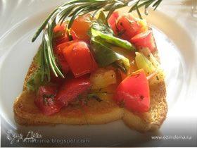 Брускетта со свежими овощами