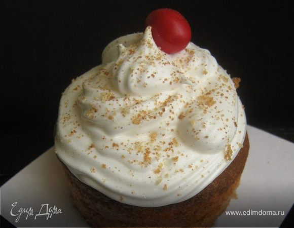 Cupcake with kiss