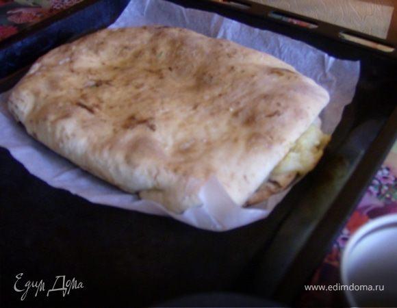 Пирог с картошкой и брынзой