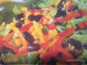 Салат из фасоли и сладкого перца