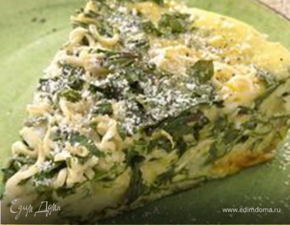 Омлет с луком и шпинатом