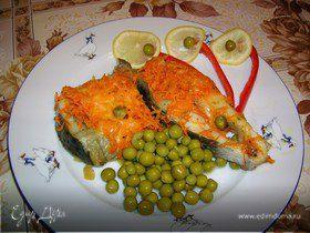 Рыба под морковно-сырной шубой