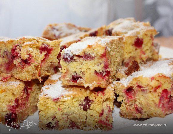 Пирожное с клюквой_По рецепту Юлии Высоцкой