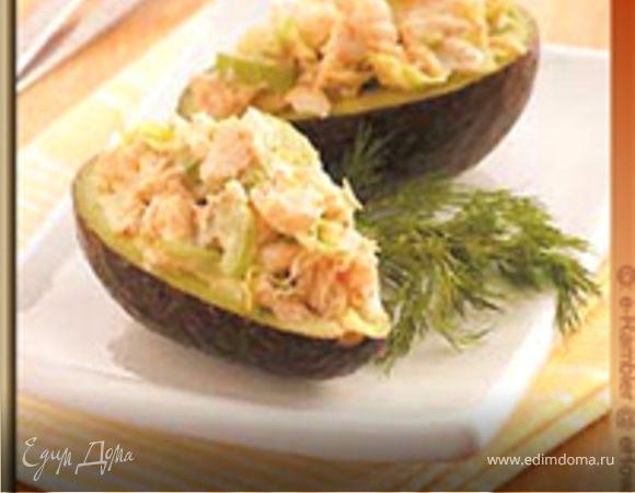 Креветки фаршированные в авокадо