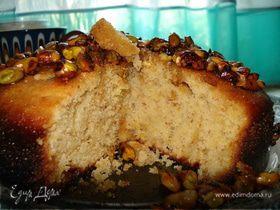 Греческий медовый пирог с фисташками