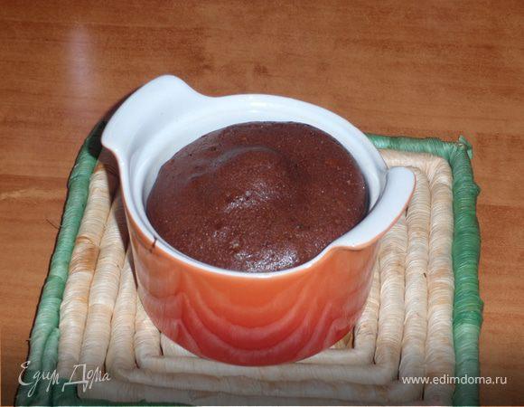 Кексик шоколадный с жидкой серединкой.