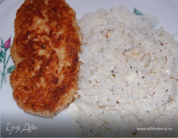 """Котлеты из индейки """"воздушные """"со сливочным рисом"""
