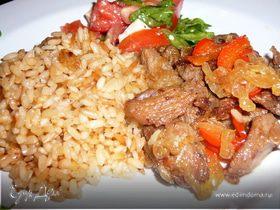 Гавайский рис с индюшатиной