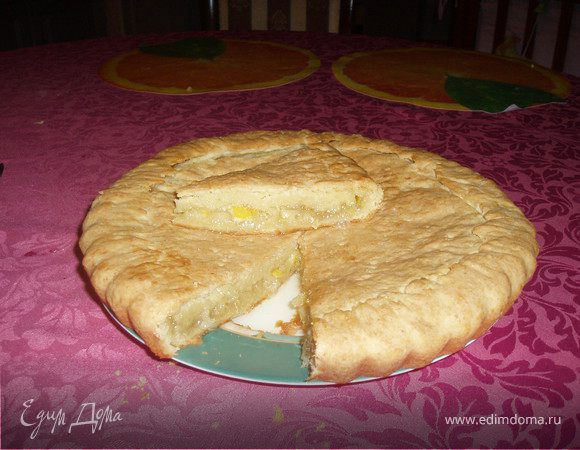 Лимонник, закрытый пирог