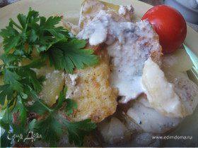 Гратен из картофеля с рыбой