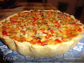 Киш с сыром и овощами