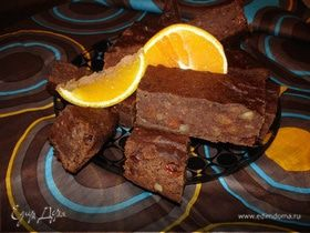 Шоколадный кекс с финиками