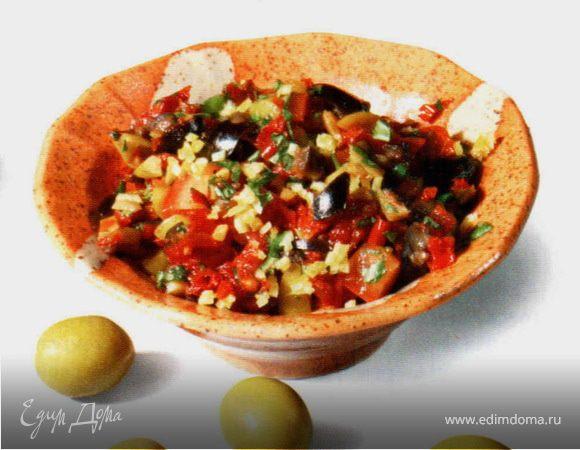 Сальса из оливок и томатов