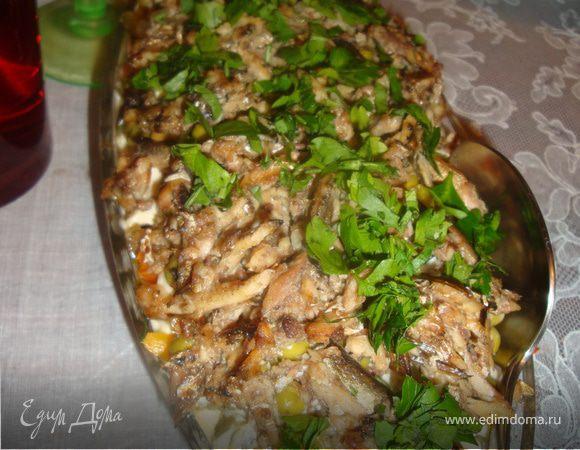 Сочный шпротный салат