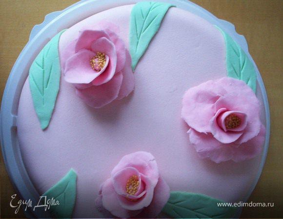 """Тортик """"Брусничная нежность"""" для любимой мамы"""