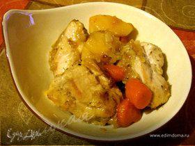 Куриное филе с айвой