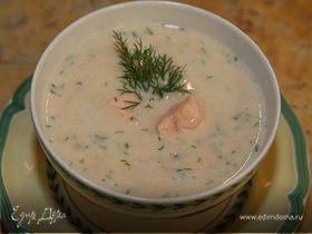 Суп с семгой и картофелем