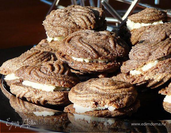 Тающее шоколадно-ванильное печенье