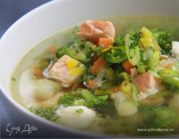 Очень лёгкий и быстрый рыбный суп