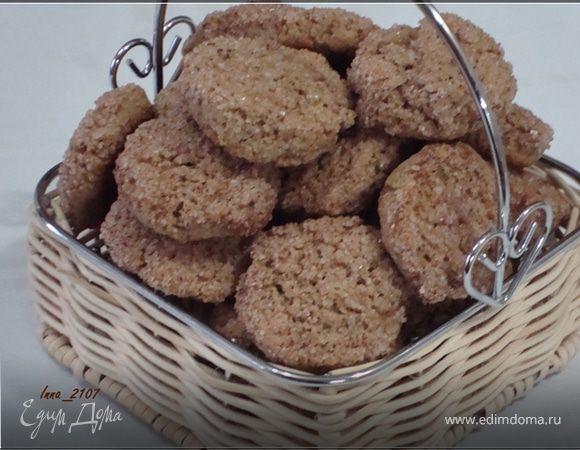 Печенье с гречневой мукой на сметане