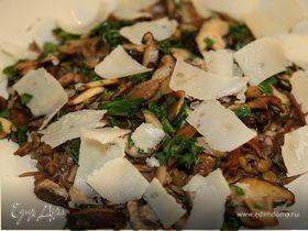 Салат с чечевицей и грибами