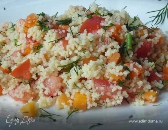 Салат с кускусом и морковкой
