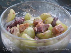 Мексиканский салат с виноградом