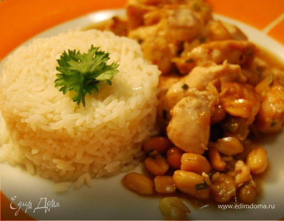 Куриное филе с арахисом Gong Bao Ji Ding.