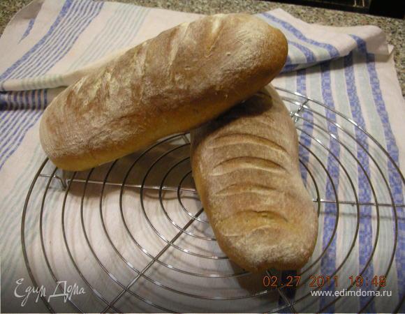 Хлеб серый с тмином