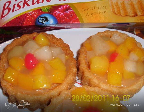 Тартелетки с фруктами.