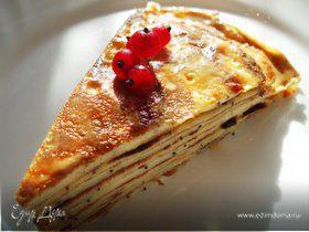 Блинный торт с маком и ванилью.